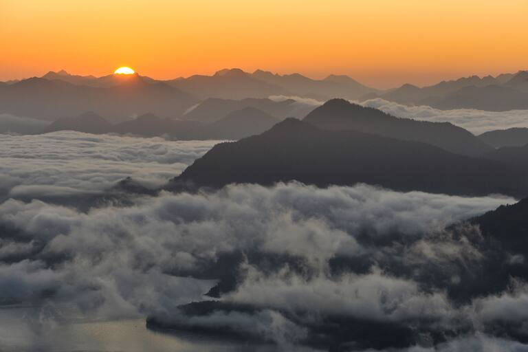 Sonnenaufgang Walchensee