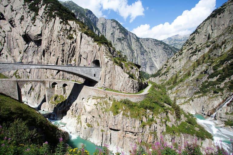 Teufelsbrücke Reuss kanton Uri