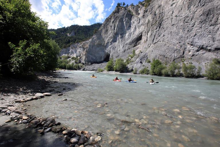 Kajakfahren Vorderrheinschlucht