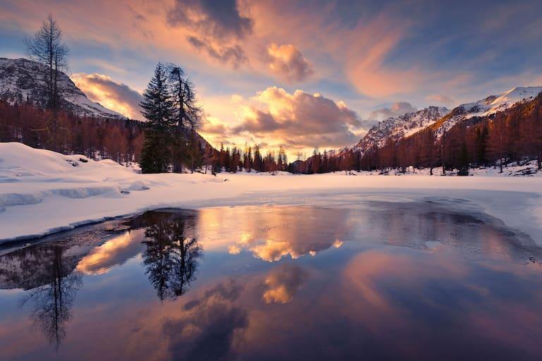 Lago San Pellegrino in den Dolomiten