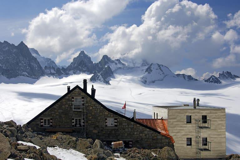 Cabane du Trient Trient-Gletscher