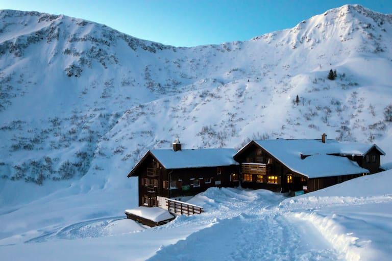 Die Schwarzwasserhütte im Vorarlberger Kleinwalsertal