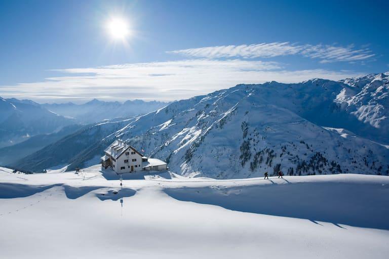 Rastkogelhütte in den Zillertaler Alpen