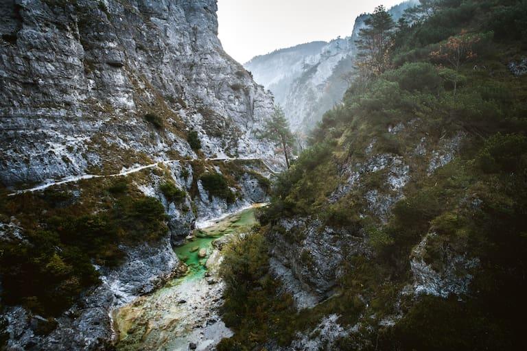 Die Ötschergräben in den Ybbstaler Alpen sind für milde Wintertage ein grandioses Tourenziel