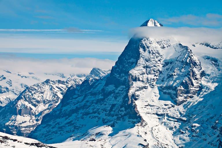 Die Eiger Nordwand im Winter