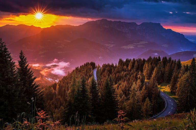 Sonnenuntergang Berchtesgaden
