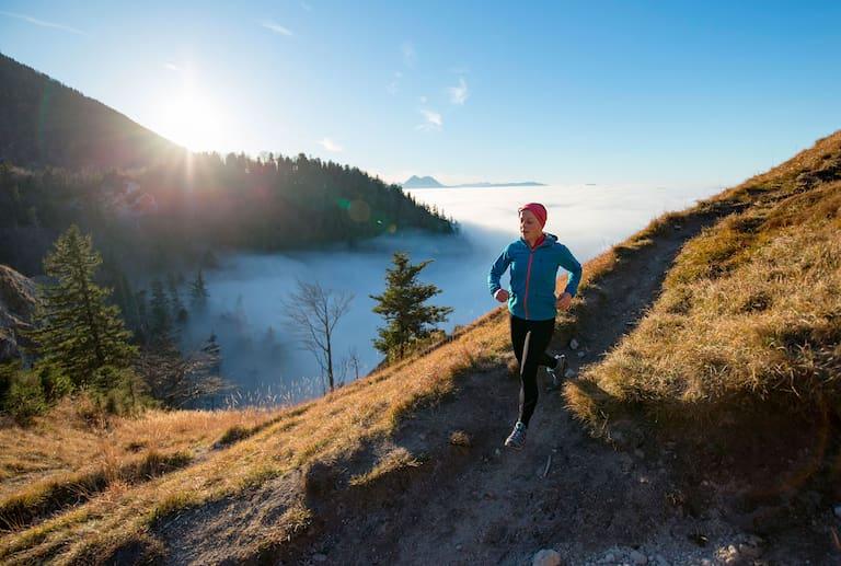 Trailläuferin in Salzburg