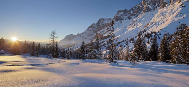 Schneeschuhwandern am Fuße des Hochkönig bei Mühlbach