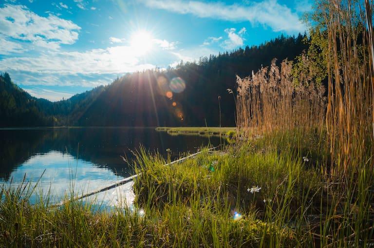 Der Spechtensee bei Wörschachwald im Ennstal, Steiermark