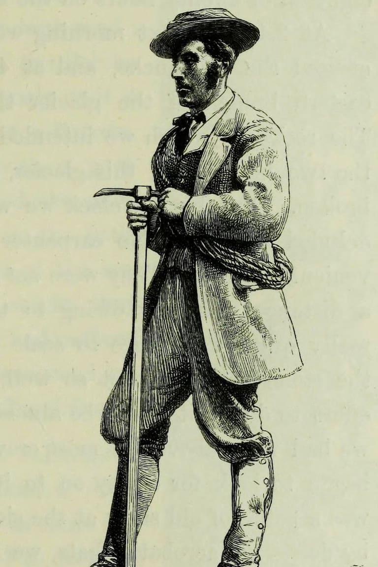 Erstbesteiger der Parrotspitze: Bergführer Melchior Anderegg