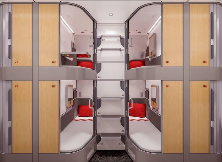 Die MiniSuits der neuen Nightjets