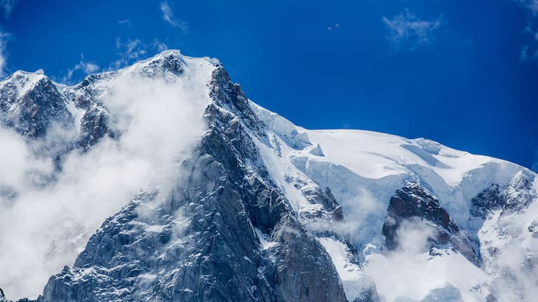 Mont Blanc bei Chamonix in Frankreich