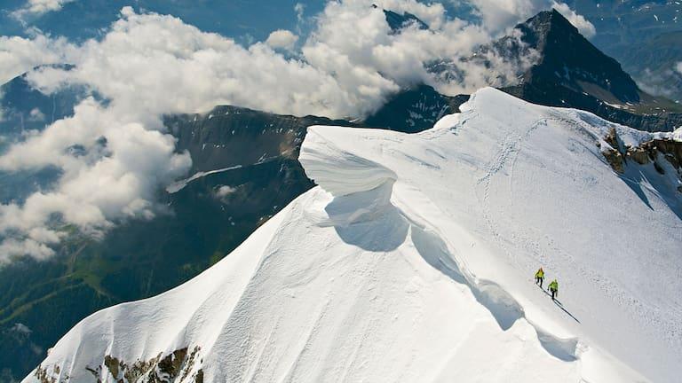 Seilschaft am Mont Blanc de Courmayeur
