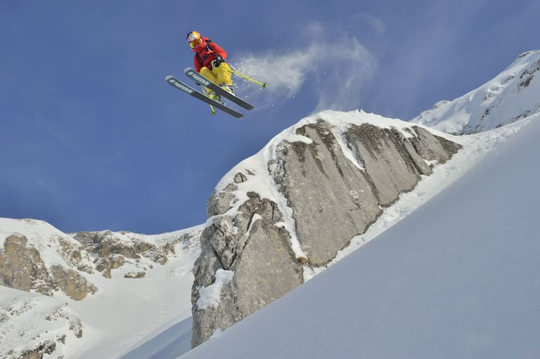 Freeride-Star Nadine Wallner am Arlberg