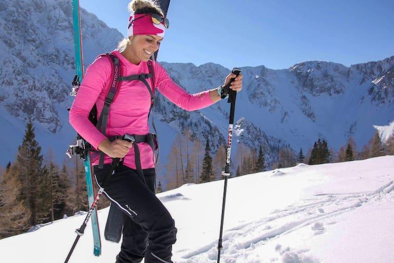 Nicole Kruschitz – das Skitourengehen ist ihre große Leidenschaft.