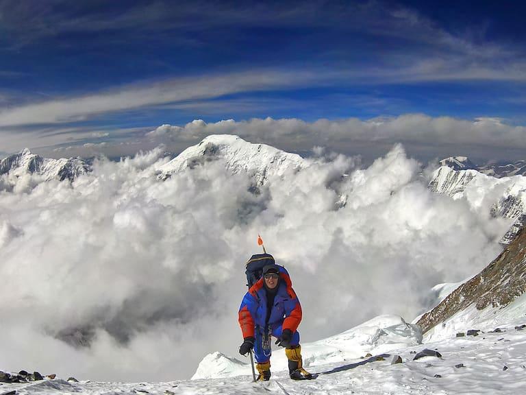 Jost am Weg zum Camp 4, Annapurna. 7.400 Meter über dem Meer.