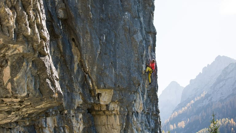 """""""Another Play in Paradise"""" (7c), Dolomitenhütte"""