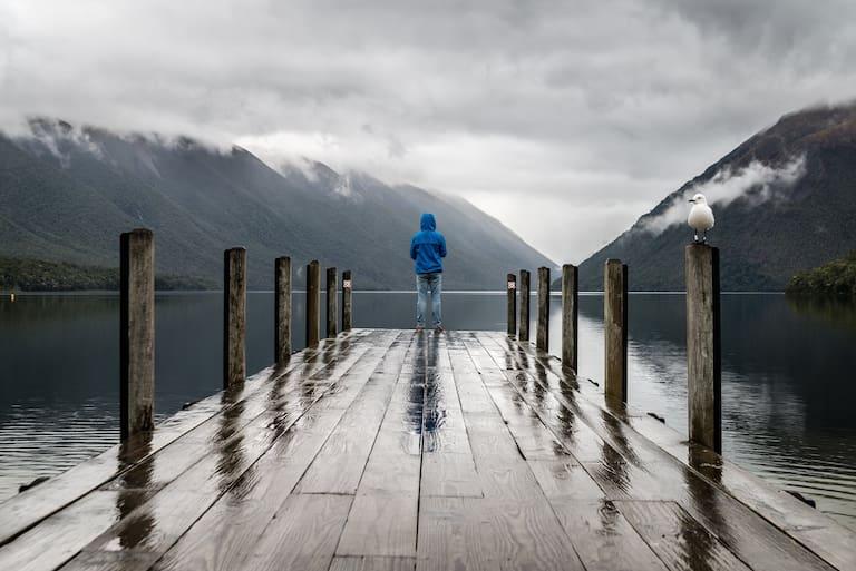 Bei Schlechtwetter muss man kreativ werden