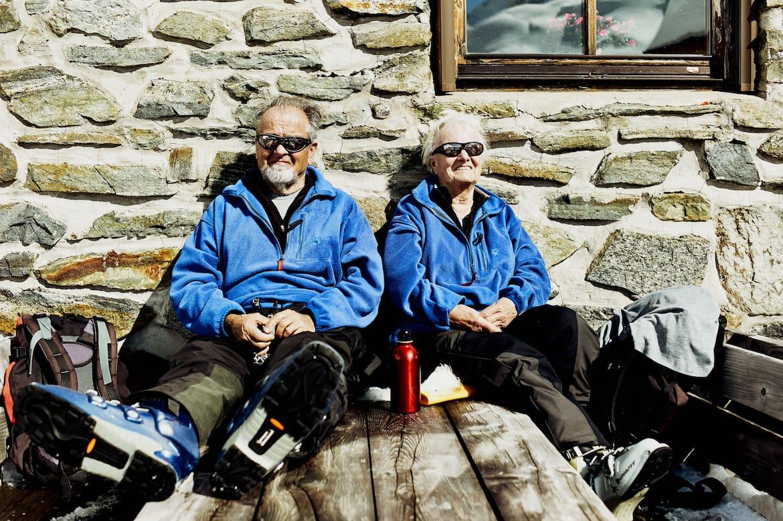 Gisela und Gustav Nachtigal aus Bremen gehen hier seit mehr als 60 Jahren Skitouren.