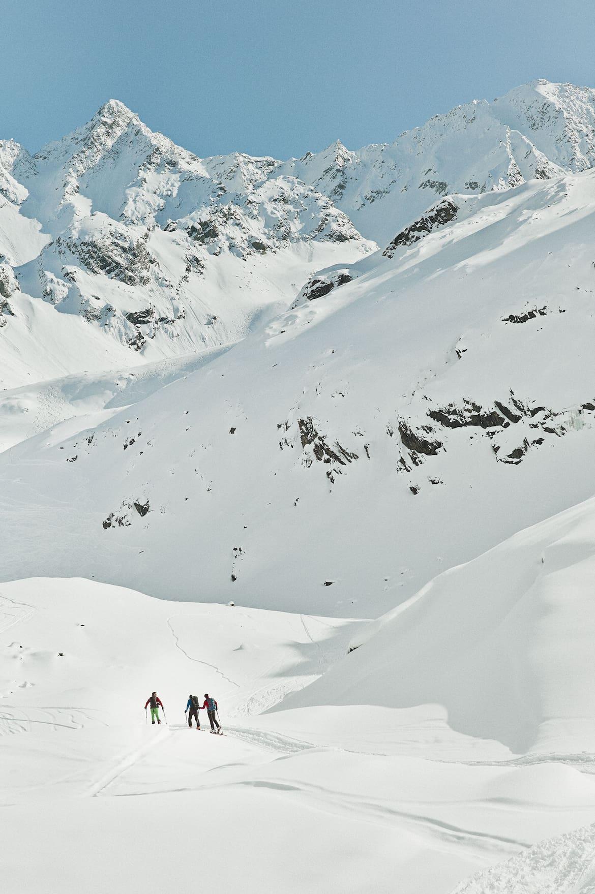 Start in einen herrlichen Tourentag mit Östlicher, Fallbesoner und Alpeiner Knotenspitze.