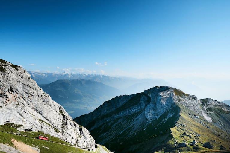 Die Tour zum Pilatus Kulm (2.106 m) bei Luzern wurde im Juni besonders oft geklickt