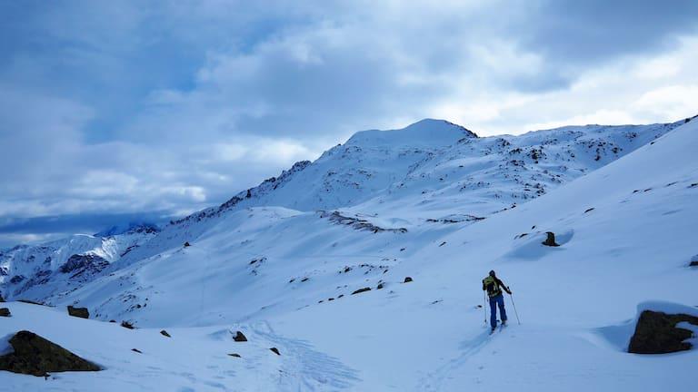 Skitour auf den Piz Turettas im Val Müstair in Graubünden