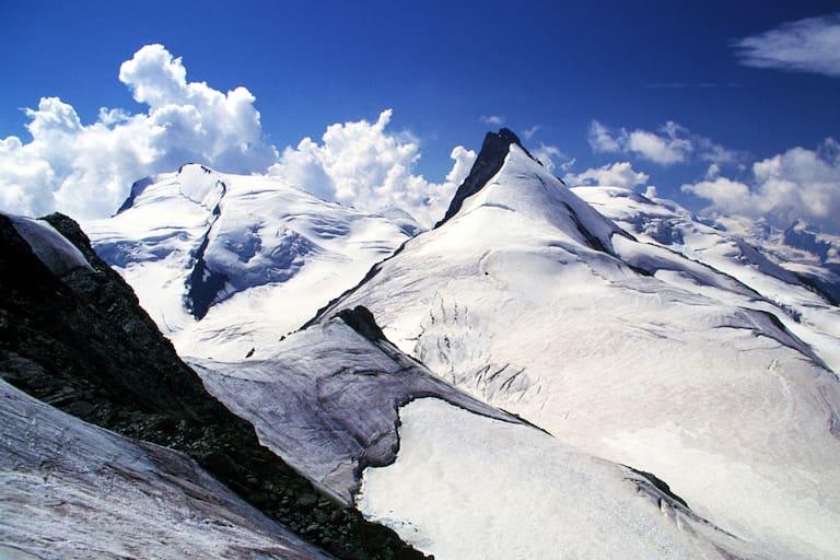 Walliser Alpen: Rimpfischhorn mit Strahlhorn