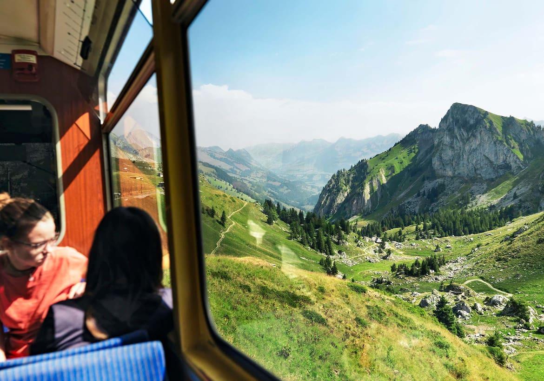 Aussicht aus der Bahn