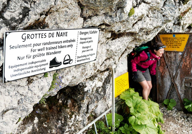 Der Weg aus der Grotte.