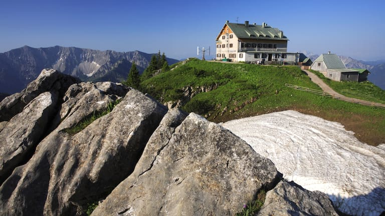 Das Rotwandhaus in den Bayerischen Voralpen