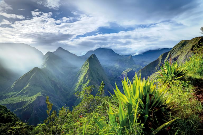 La Réunion im Indischen Ozean
