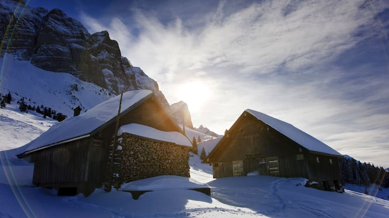 Winterlandschaft rund um die Schwägalp in den Appenzeller Alpen