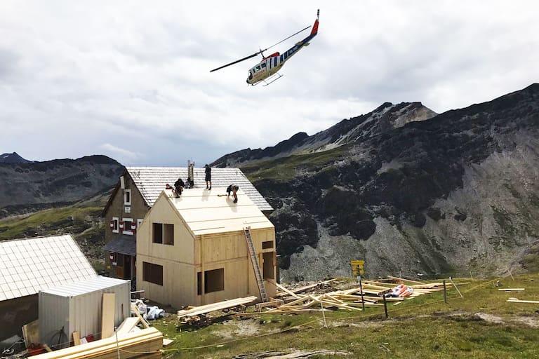 Bauarbeiten auf der Salmhütte in Kärnten