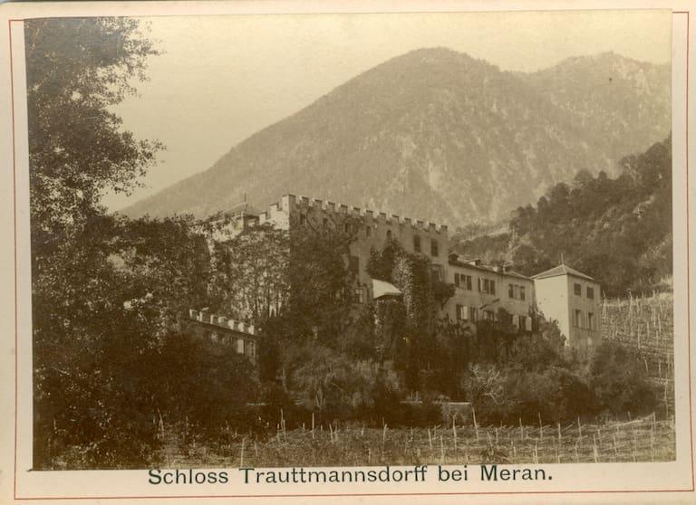 Historische Fotografie: Schloss Trauttmannsdorff