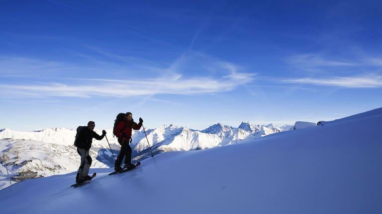 Samnaungruppe: Schneeschuhwandern bei Serfaus in Tirol
