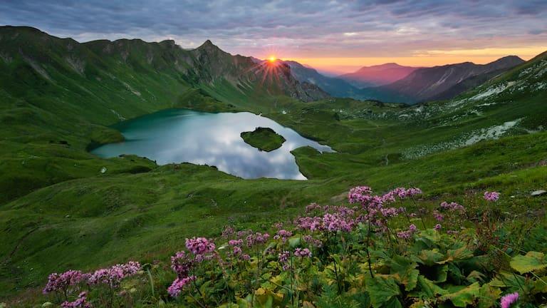 Schrecksee bei Bad Hindelang in den Allgäuer Alpen in Bayern