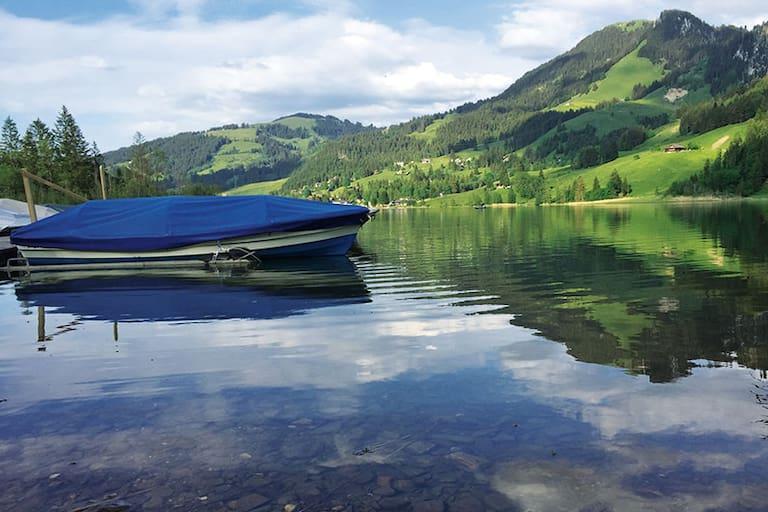 Der Schwarzsee in den Freiburger Voralpen
