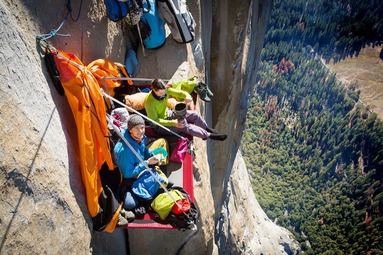 11 Nächte, 12 Klettertage: Alexandra Schweikart und Christopher Igel in El Corazon, Yosemite Valley.