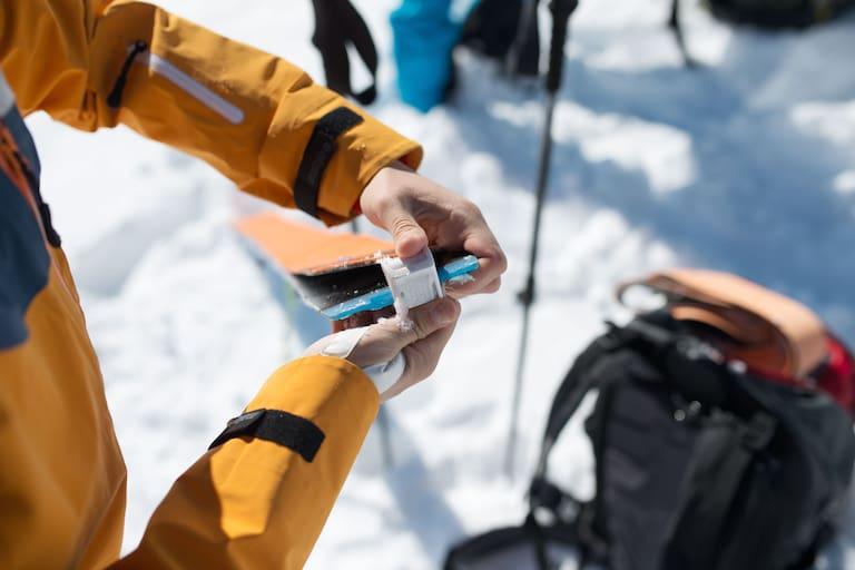 Skitour: Auffellen