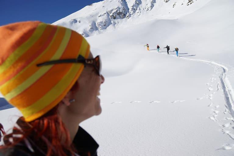 Skitourengeher im Gelände