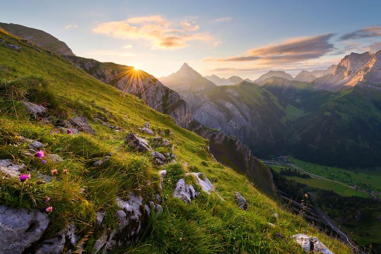 Sonnenaufgang im Karwendel in Tirol