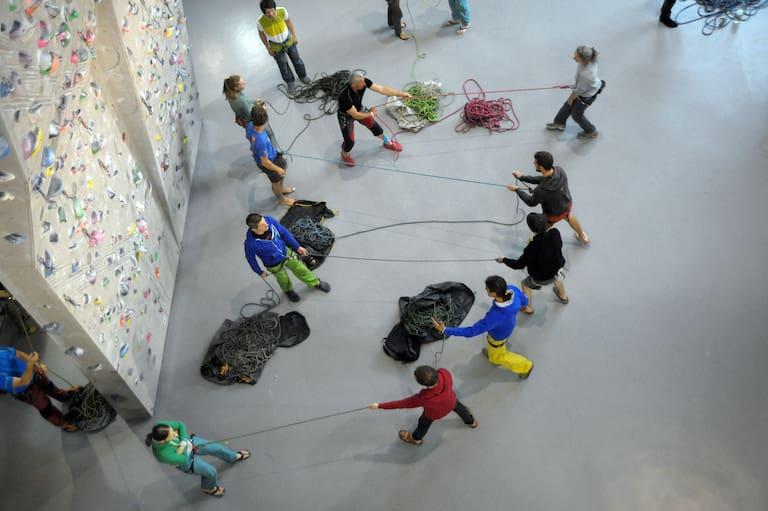 Methodischer Aufbau des Sicherungstrainings im Rahmen der Sportkletterlehrerausbildung