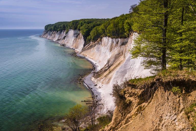 Entlang der Kreidefelsen und Steilküsten des Jasmund Nationalparks auf Rügen