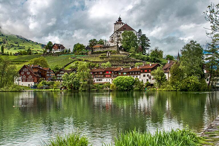 Schloss Werdenberg am Schlossberg in Werdenberg