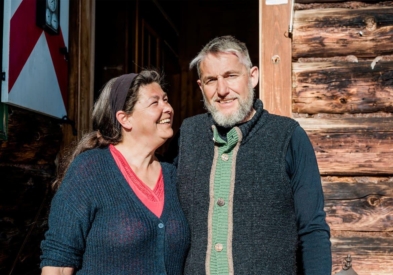 Die Hüttenwirte Tanja und Robert Scharler im Portrait