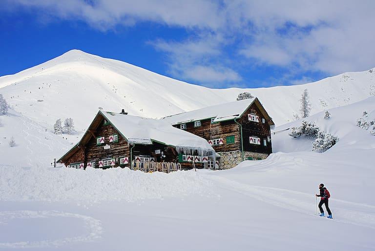 Südwiener Hütte in Salzburg im Winter