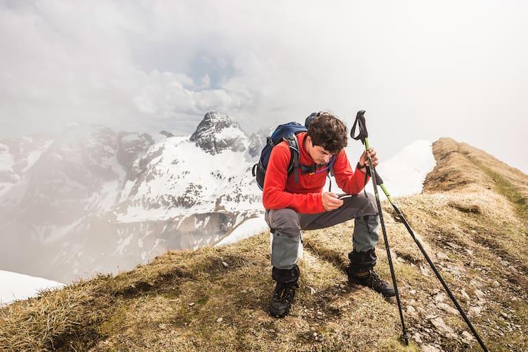 Handy am Berg, Bergsteigen