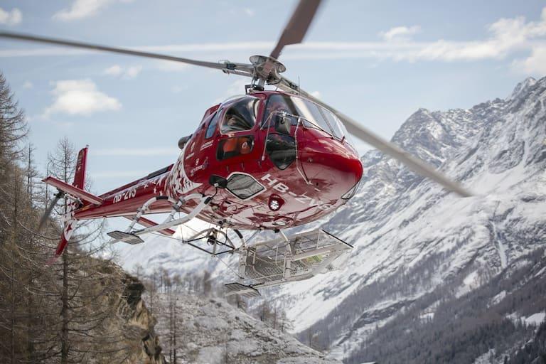 Luftretter der Air Zermatt im Einsatz