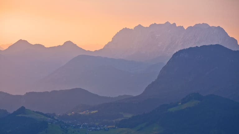 Der Wilde Kaiser in Tirol im Morgenlicht