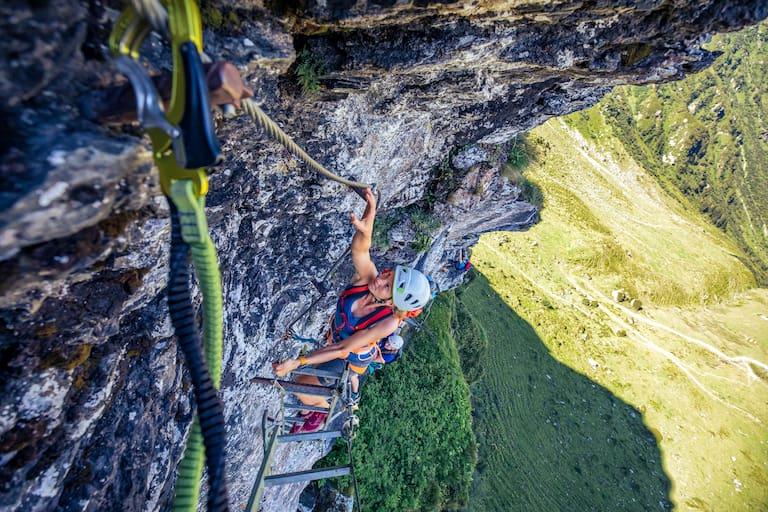 Schattig und steil: Die Via Ferrata auf den Tristkogel in den Kitzbüheler Alpen